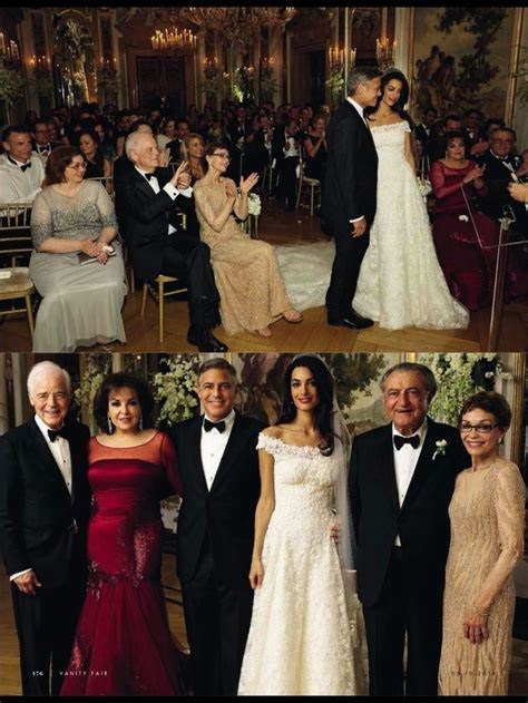Amal Alamuddin and George Clooney in Vanity Fair Italy