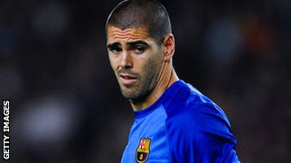 Barcelona goalkeeper Victor Valdes has been capped 18 times by Spain.