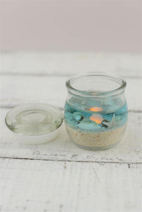 Beach Jar Candle 2x2.5in, Battery Op., Beach Wedding Favors
