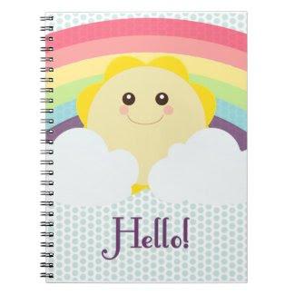 Kawaii Sun - Notebook notebook