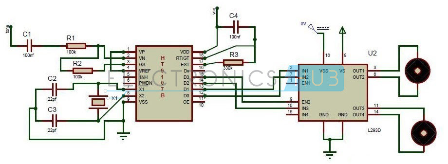 DTMF based Mobile Controlled Robotic Vehicle without using microcontroller