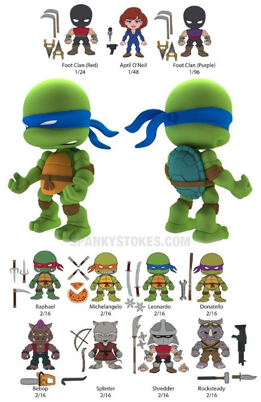 "SpankyStokes.com | Vinyl Toys, Art, Culture, & Everything Inbetween: Do you have turtle fever?!?! The Loyal Subjects Teenage Mutant Ninja Turtles 3"" vinyl figures announced!!!"