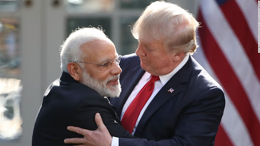 Trump and Modi share hugs, promise closer ties in White House meeting - CNNPolitics