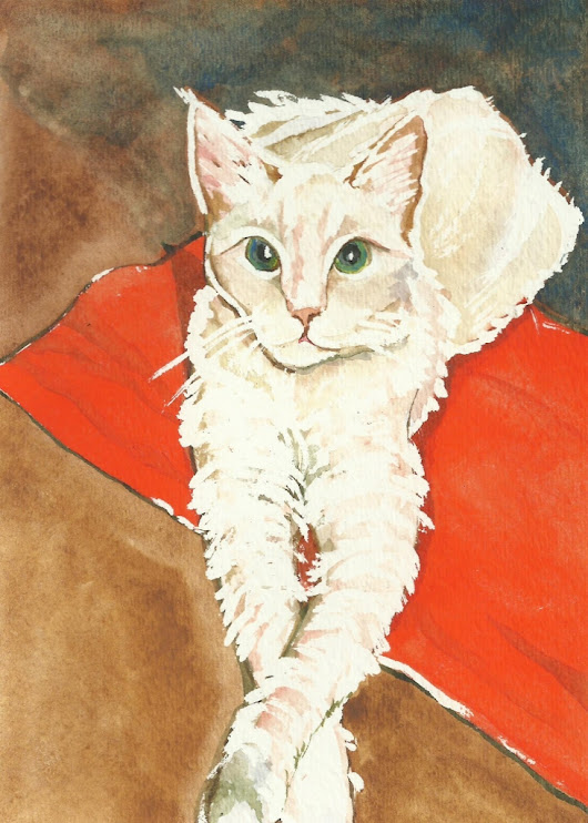 Cats Painted In Watercolor Day 20 September 2016 -