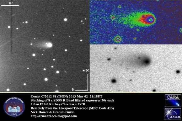 View of Comet ISON on May 2, 2013. Credit: Ernesto Guido & Nick Howes, Remanzacco Observatory.