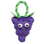 Griggles Grriggles Happy Fruit Rope Tug Grape - US1430 22, Size: 9.5 x 5.5 x 1.2