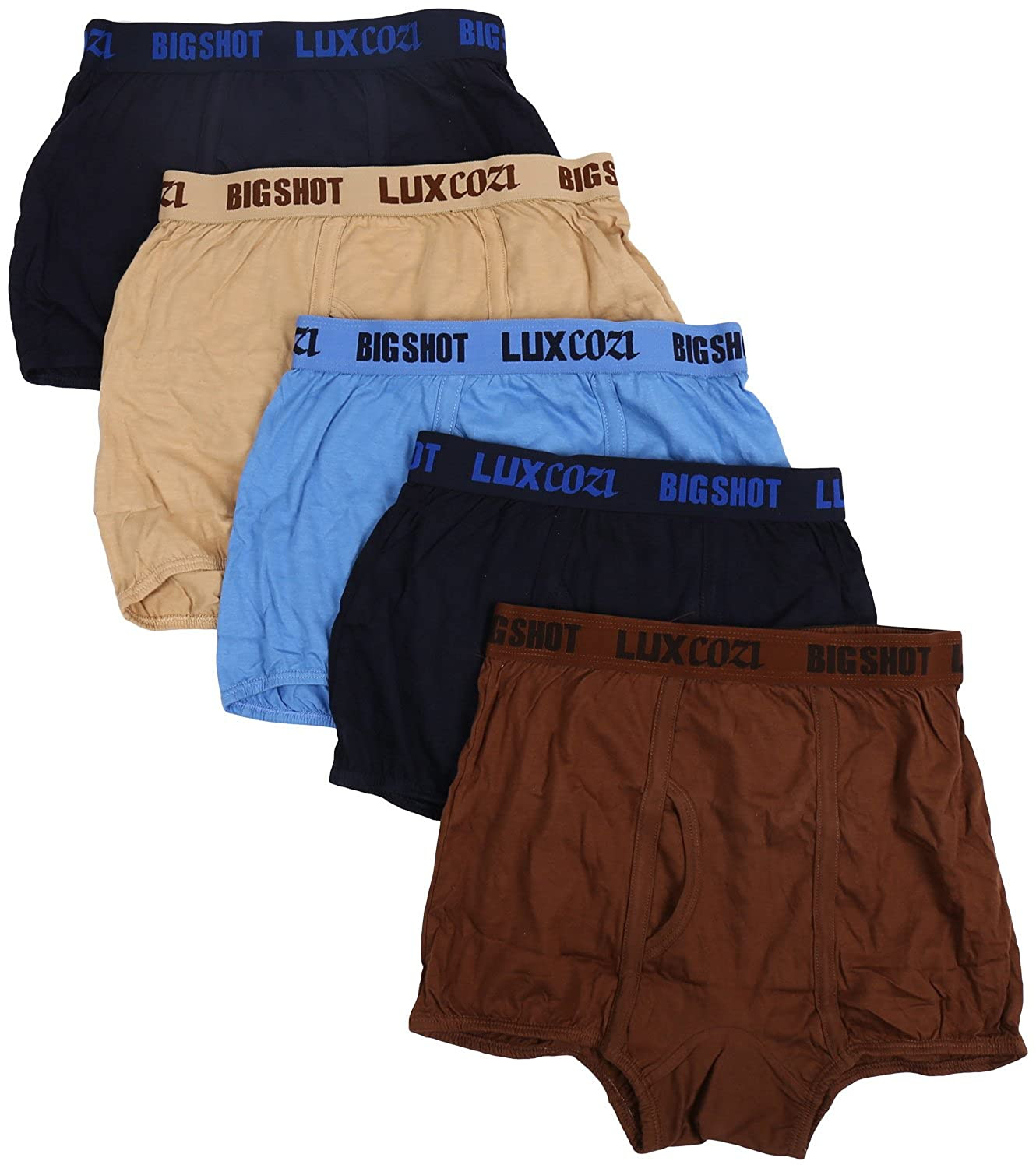 Deals on Lux Men's Cotton Trunk (Pack Of 5)