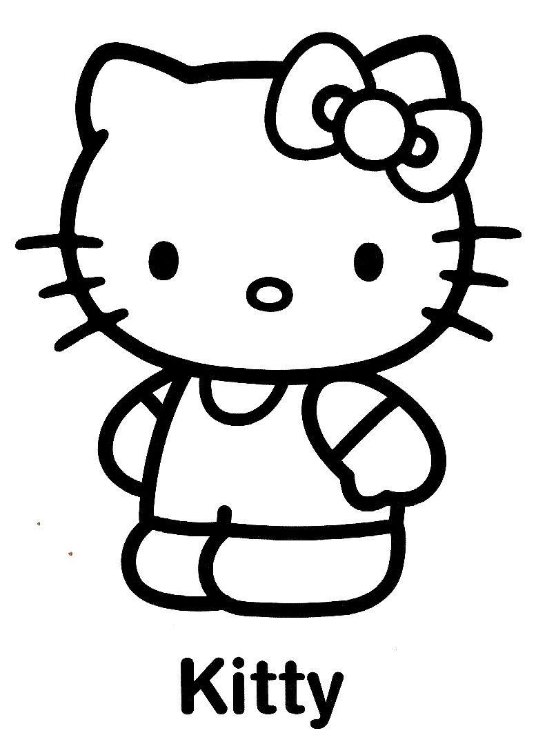 Coloriage hello kitty gratuit dessin a imprimer 75