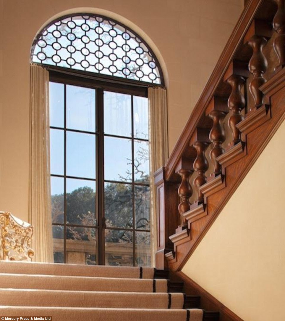Stairway to heaven: Every part of the mansion oozes luxury
