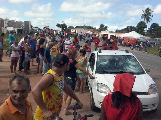 Motorista do Fiesta escapou do linchamento no RN (Foto: Reginaldo Rossi/G1)