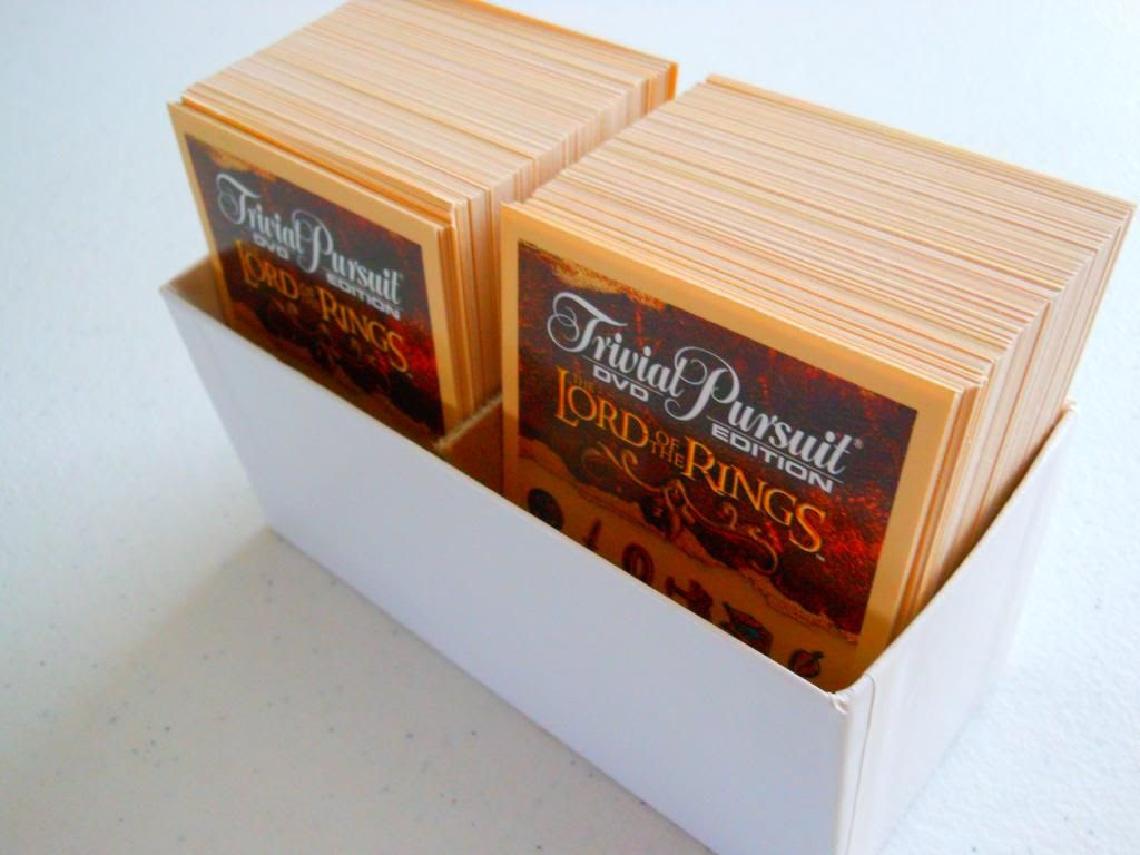 Trivial Pursuit DVD: The Lord of the Rings Trilogy Edition cards