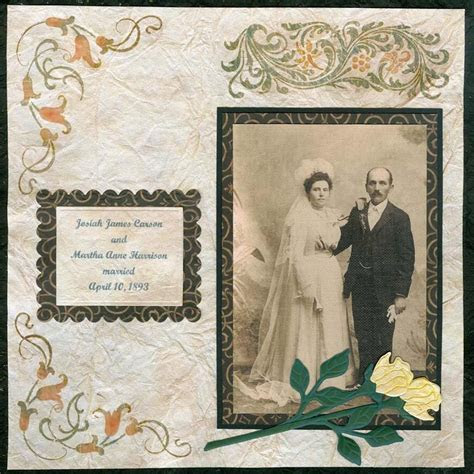 Vintage Wedding Day Scrapbook Layout   Wedding