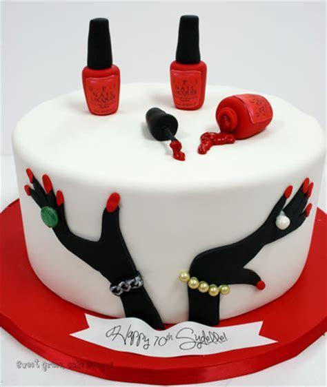 Birthday Cakes NJ   Red Nails Custom Cakes