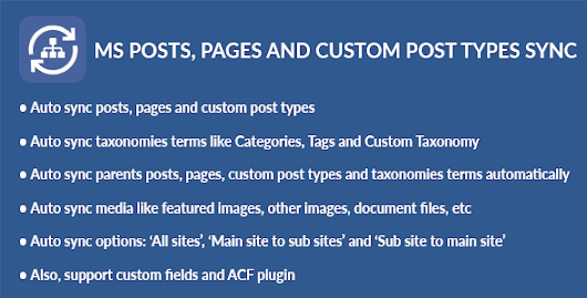Download WordPress Multisite Posts, Pages and Custom Post Types Sync nulled | OXO-NULLED