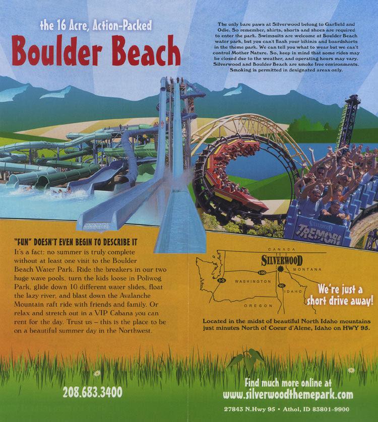 Theme Park Brochures Silverwood Theme Park Brochures