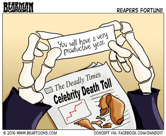 Grim Reaper's Fortune - Bearman Cartoons