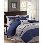 Madison Park Palmer Comforter (Set) Blue King