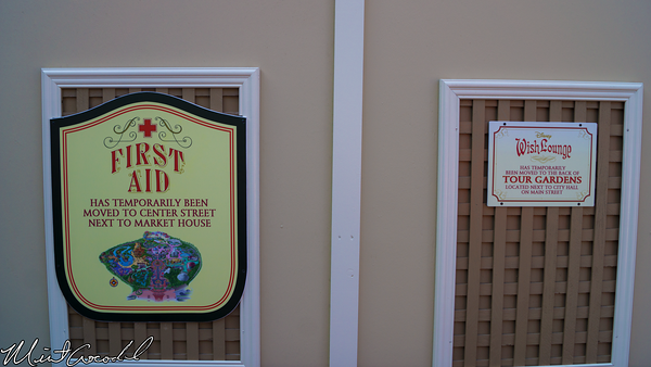 Disneyland Resort, Disneyland, Main Street U.S.A., First Aid, Refurbishment, Refurbish, Refurb, Corridor