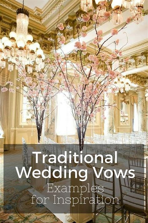 traditional wedding vows examples   Wedding Planning Tips