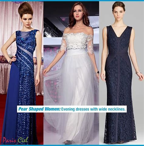 Evening Dresses for Pear Shaped Women luv the middle one