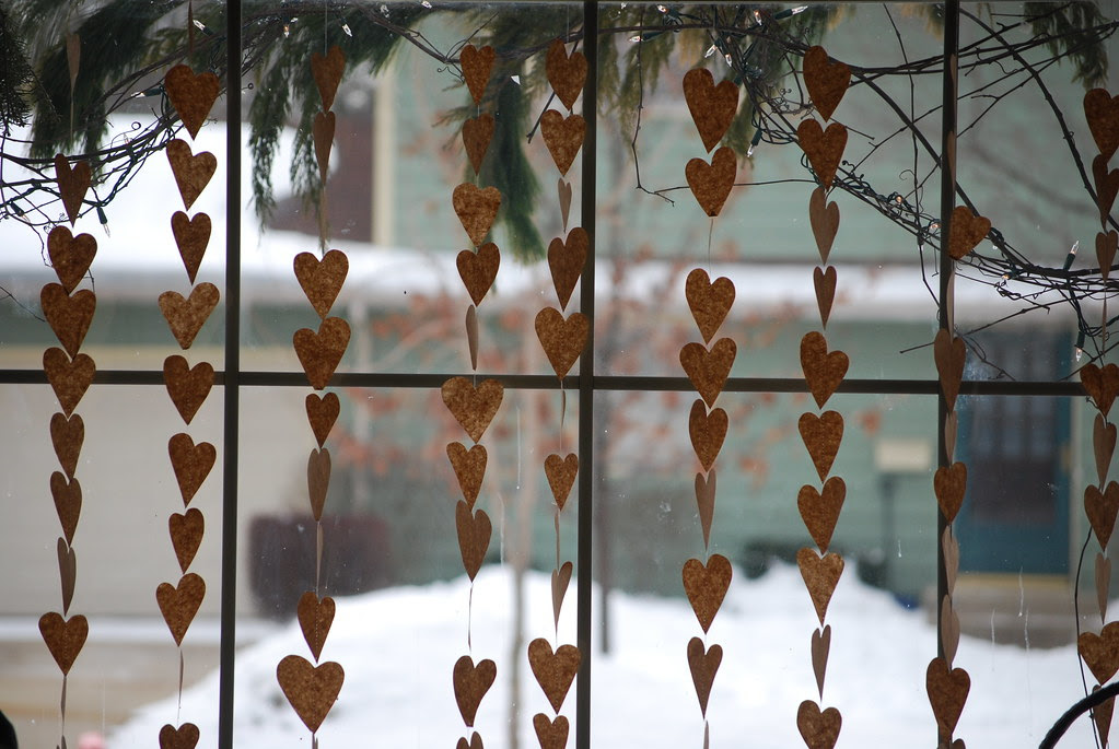 a curtain of hearts...