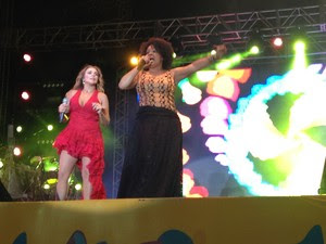 Márcia Short e Daniela Pôr do som Bahia (Foto: Maiana Belo/G1 Bahia)