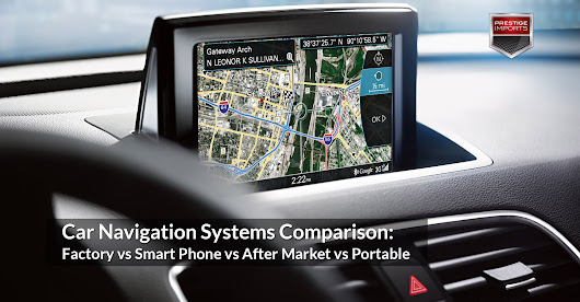 Car Navigation Systems Comparison: Factory, Smart Phone, After Market, and Portable