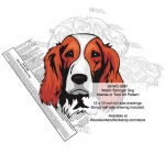 Welsh Springer Spaniel Dog Intarsia Yard Art Woodworking Plan - fee plans from WoodworkersWorkshop® Online Store - Welsh Springer Spaniel Dogs,pets,animals,dogs,breeds,instarsia,yard art,painting wood crafts,scrollsawing patterns,drawings,plywood,plywoodworking plans,woodworkers projects,workshop blueprints