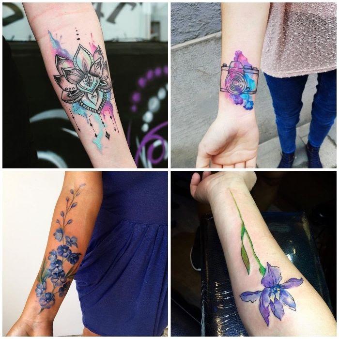 Tattoo oberarm frau dezent