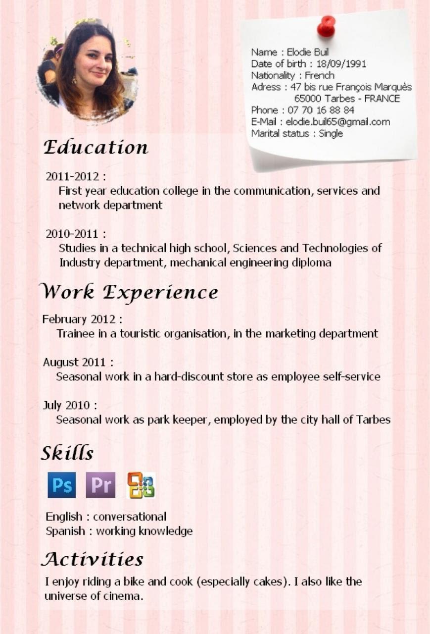 CV english (CV english.pdf) - Fichier PDF