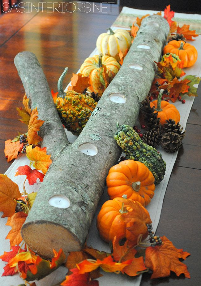 Un centro precioso para la mesa de una fiesta otoño / A stunning centerpiece for an autumn party table
