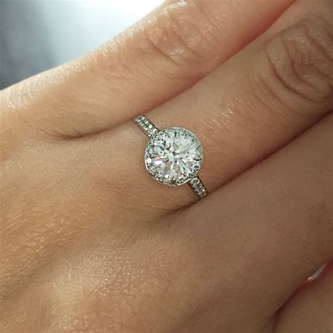 Tiffany & Co. Platinum 0.94ct Diamond Engagement Ring