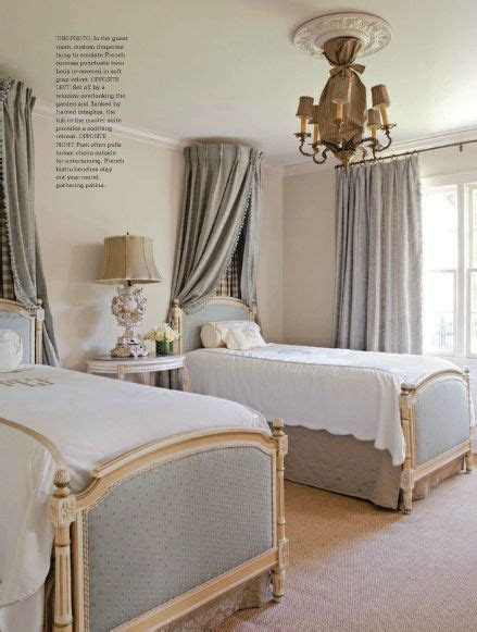 curtains  bed  country french magazine interior