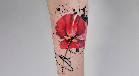 Beautiful tattoos that look like watercolour art | Daniel Swanick