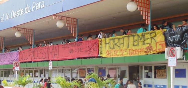 Ocupa Ufopa não provoca vandalismo e nem impede acesso, dizem estudantes, ocupaUfopa