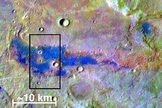 Depósitos de sal en Marte
