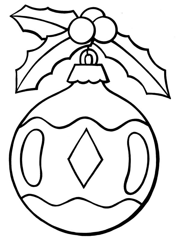 coloured: Christmas Ornament Coloring Pages