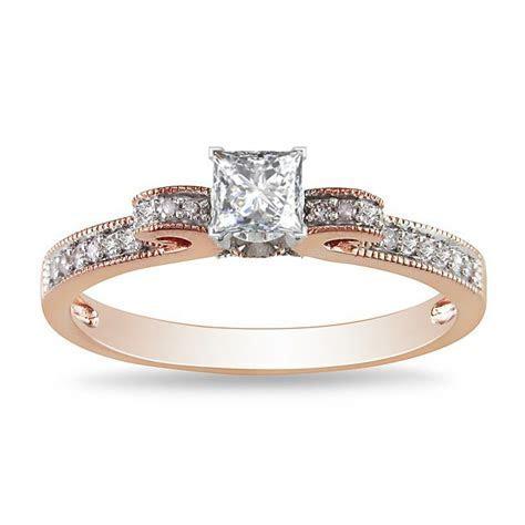 Exquisite Cheap Engagement Ring 0.50 Carat Princess Cut