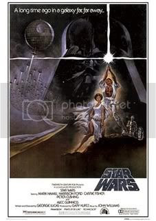 StarWars poster, Source: http://thehollerinhog.blogspot.com/2012/05/lost-art-of-drawn-movie-poster.html