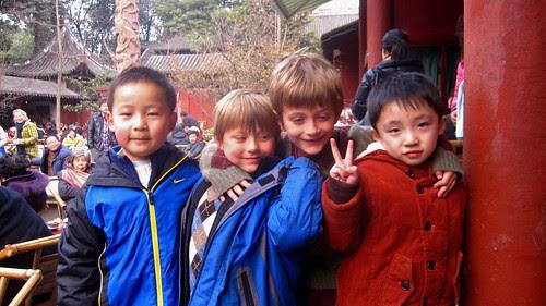 X, Z, and partners in crime, Wenshu monastary teahouse, Chengdu