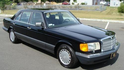 Find used 1990 Mercedes Benz 300 SEL 69303 Miles Black ...