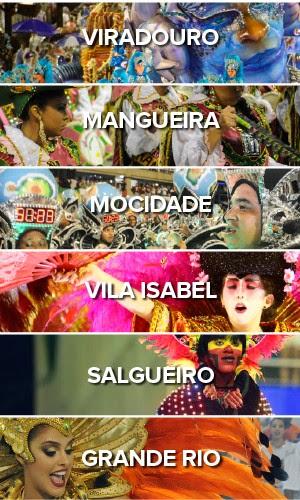 Todas as escolas - Primeiro dia do carnaval do Rio de Janeiro (Foto: G1)