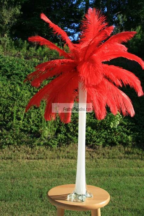 Feather Plume Palm Tree Wholesale Bulk Discount Cheap Red