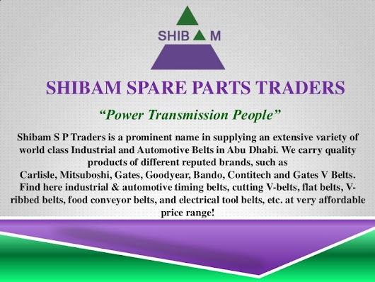 Shibam Belting - Get Your Any Automotive & Industrial Belt & Spare ...