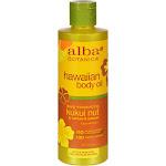 Alba Botanica Hawaiian Body Oil, Kukui Nut - 8.5 oz bottle