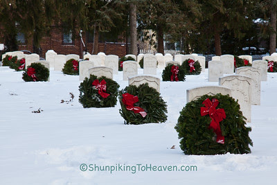 Wreaths in Soldiers' Lot, Forest Hill Cemetery, Madison, Wisconsin