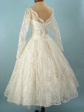Vintage Wedding Dress Patterns 1950s   1950s tea length