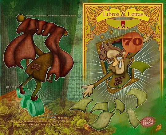 Ilustración y diseño de portada para la revista libros y letras