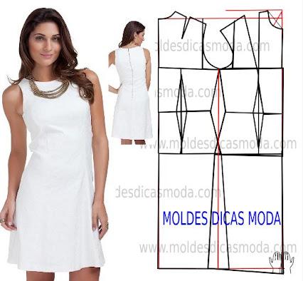 Выкройка платья прямого трикотажного платья