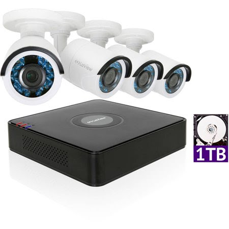 LaView 1080P HD 4 Cameras 4CH Security System DVR with 1TB HDD 2MP Bullet Cam Surveillance Kit - Walmart.com